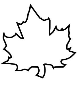 кленовые листья шаблоны картинки
